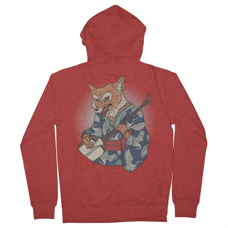 Kicune Women's French Terry Zip-Up Hoody by arisuber's Artist Shop