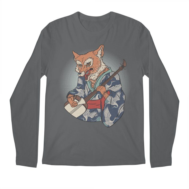Kicune Men's Regular Longsleeve T-Shirt by arisuber's Artist Shop