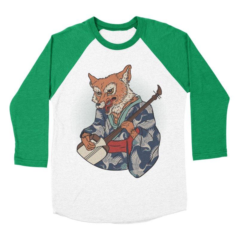 Kicune Women's Baseball Triblend T-Shirt by arisuber's Artist Shop