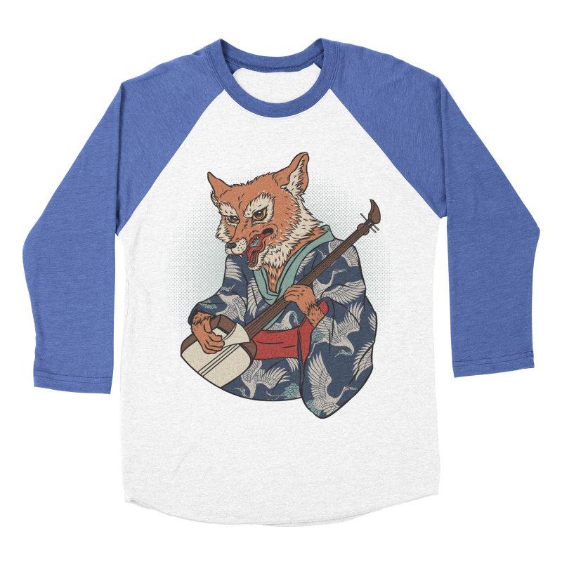 Kicune Men's Baseball Triblend Longsleeve T-Shirt by arisuber's Artist Shop