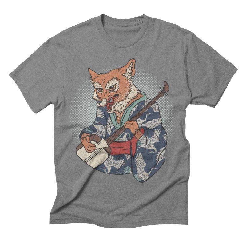 Kicune Men's Triblend T-shirt by arisuber's Artist Shop
