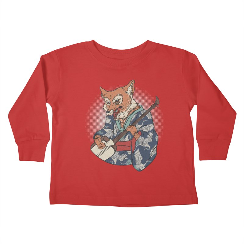 Kicune Kids Toddler Longsleeve T-Shirt by arisuber's Artist Shop