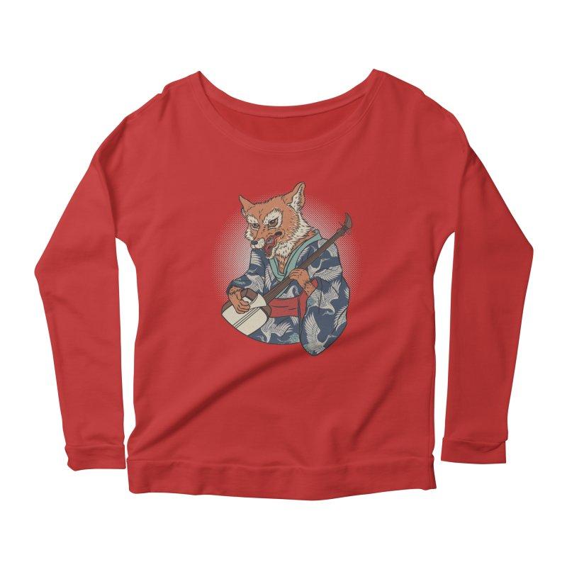 Kicune Women's Scoop Neck Longsleeve T-Shirt by arisuber's Artist Shop