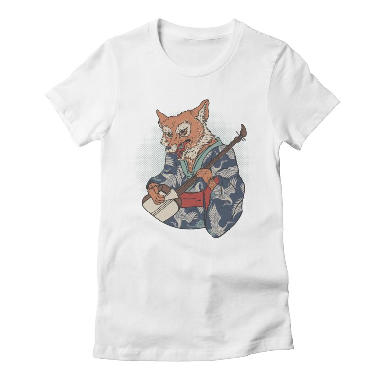 Kicune Women's Fitted T-Shirt by arisuber's Artist Shop