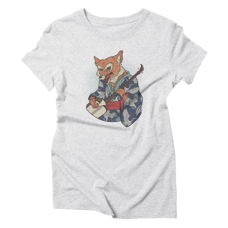 Kicune Women's Triblend T-Shirt by arisuber's Artist Shop