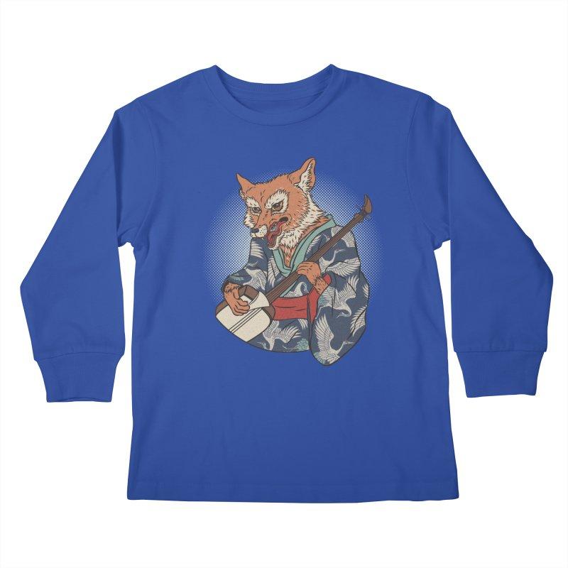 Kicune Kids Longsleeve T-Shirt by arisuber's Artist Shop