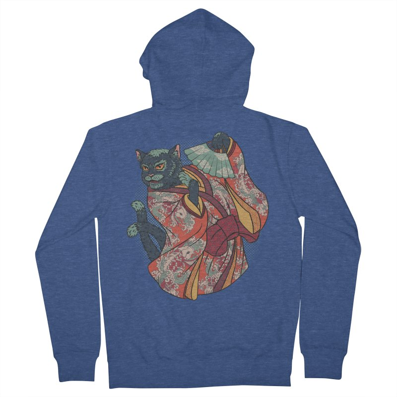 Bakeneko Women's French Terry Zip-Up Hoody by arisuber's Artist Shop