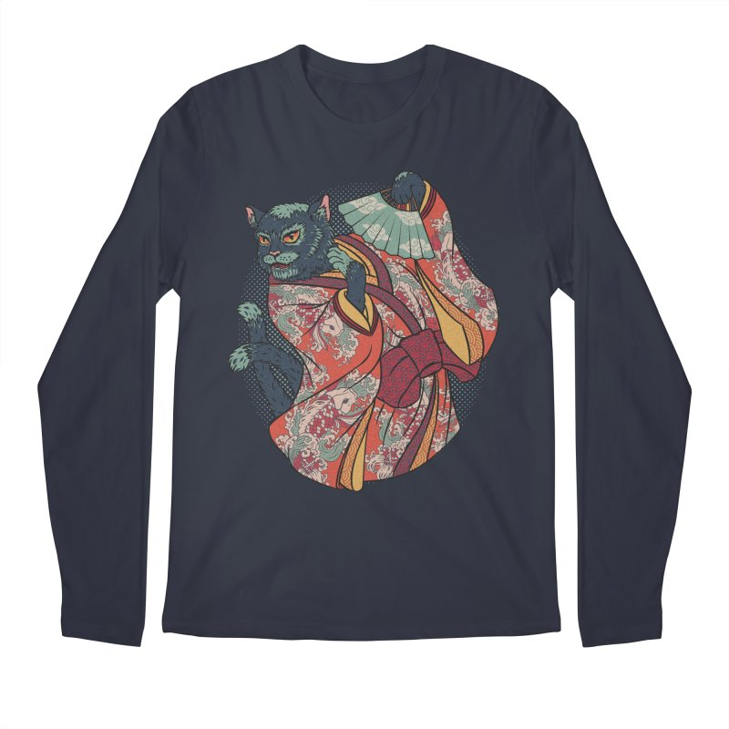 Bakeneko Men's Longsleeve T-Shirt by arisuber's Artist Shop