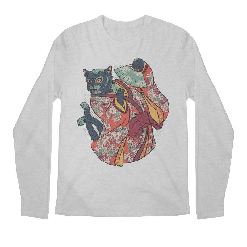 Bakeneko Men's Longsleeve T-Shirt by arisuber's Artist Shop