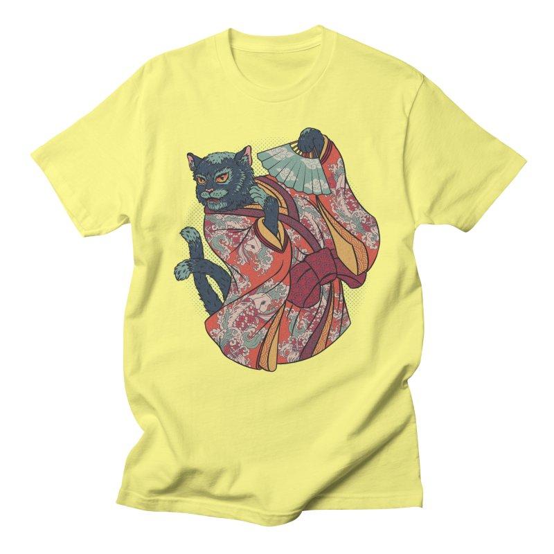 Bakeneko Men's Regular T-Shirt by arisuber's Artist Shop
