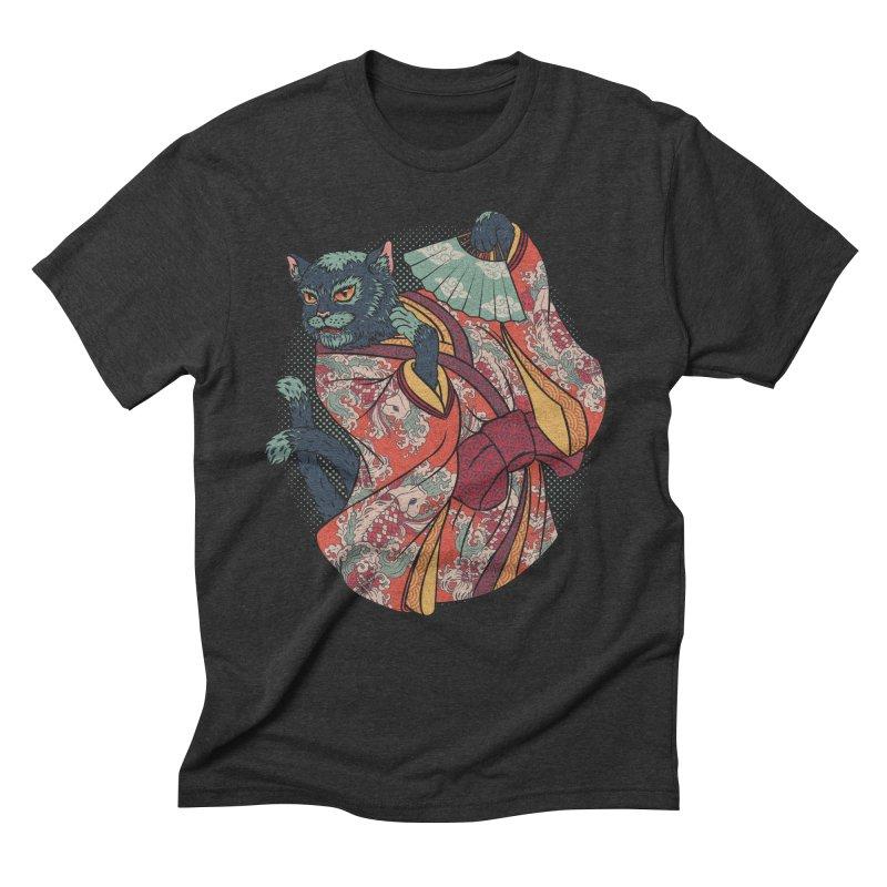 Bakeneko Men's Triblend T-shirt by arisuber's Artist Shop