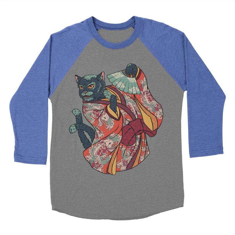 Bakeneko Men's Baseball Triblend T-Shirt by arisuber's Artist Shop