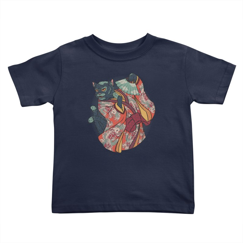 Bakeneko Kids Toddler T-Shirt by arisuber's Artist Shop