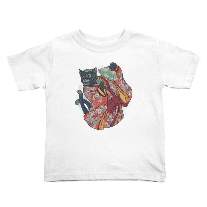 Bakeneko Kids Toddler T-Shirt by arisuber's Artist Shop