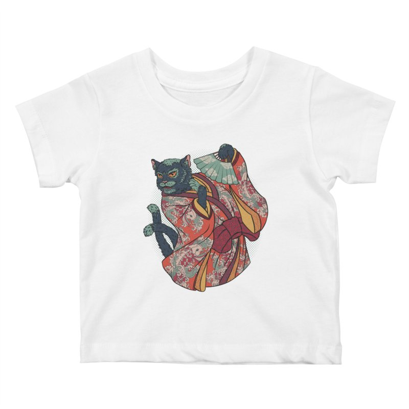 Bakeneko Kids Baby T-Shirt by arisuber's Artist Shop