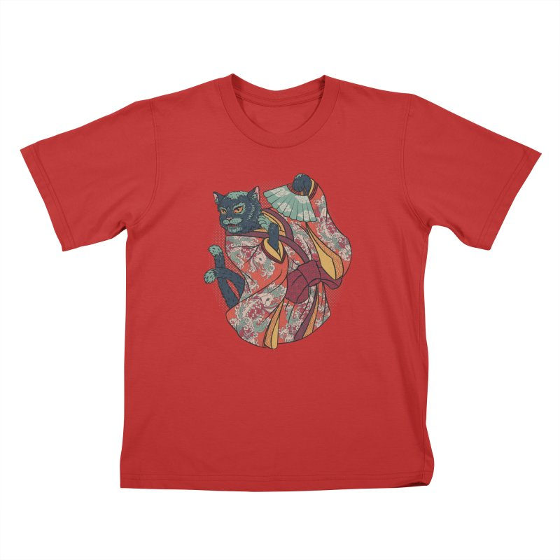 Bakeneko Kids T-Shirt by arisuber's Artist Shop