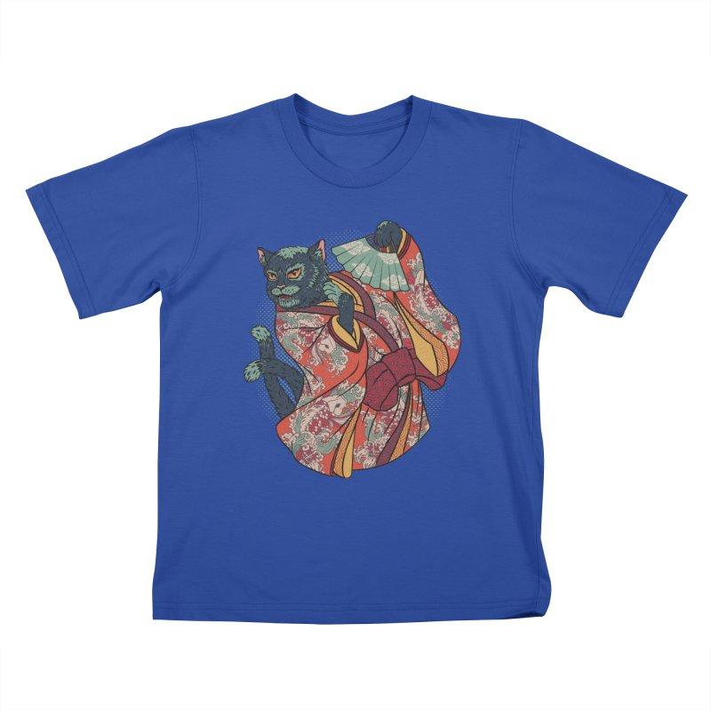 Bakeneko Kids T-Shirt by arisuber's Artist Shop