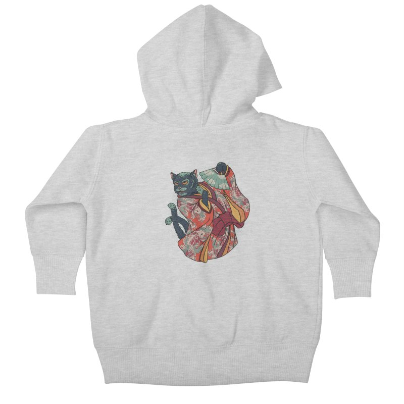 Bakeneko Kids Baby Zip-Up Hoody by arisuber's Artist Shop