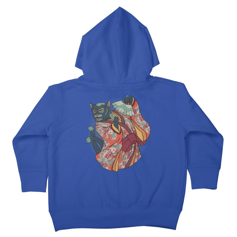 Bakeneko Kids Toddler Zip-Up Hoody by arisuber's Artist Shop