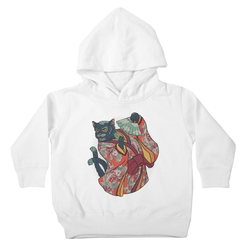 Bakeneko Kids Toddler Pullover Hoody by arisuber's Artist Shop