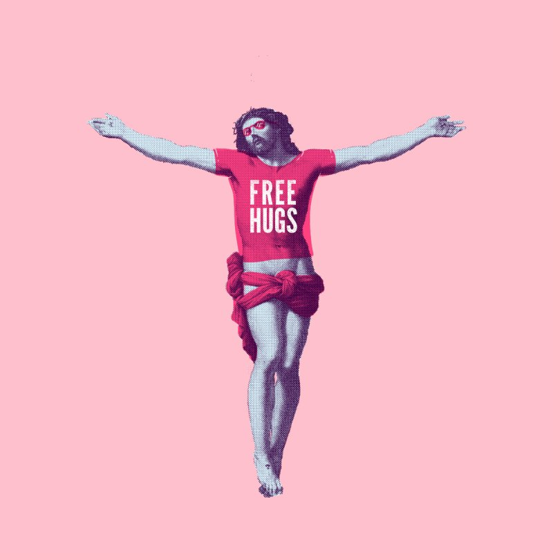 Free hugs Women's T-Shirt by Arkady's print shop