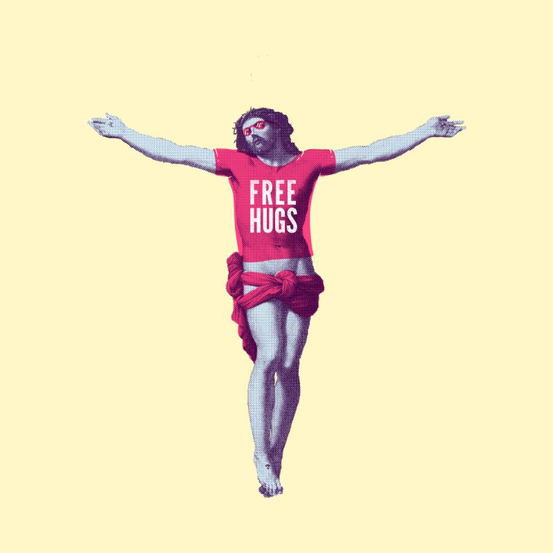 Free hugs by Arkady's print shop
