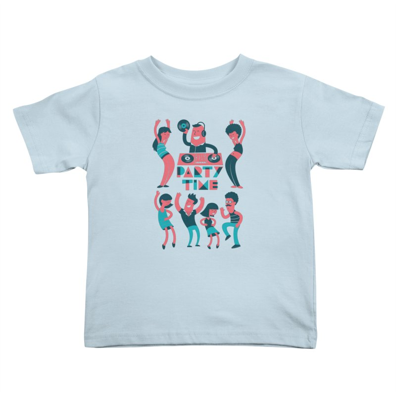 PARTY TIME!!! Kids Toddler T-Shirt by Arkady's print shop