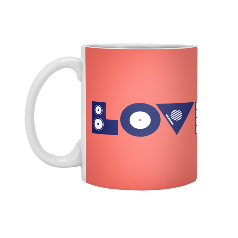 Love Music Accessories Mug by Arkady's print shop