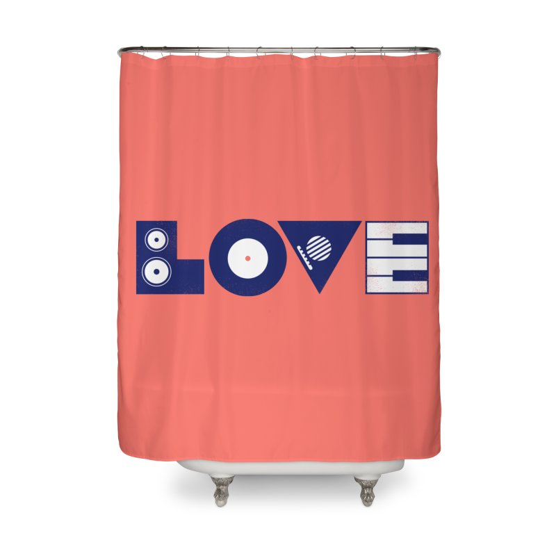 Love Music Home Shower Curtain by Arkady's print shop