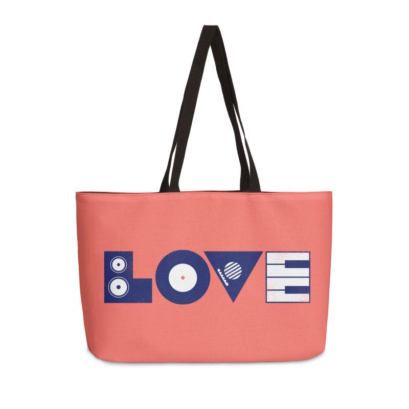 Love Music Accessories Weekender Bag Bag by Arkady's print shop