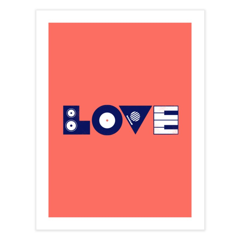 Love Music Home Fine Art Print by Arkady's print shop