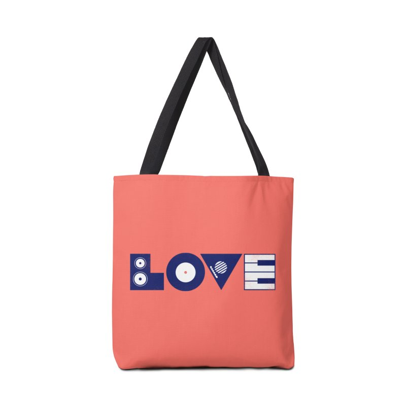 Love Music Accessories Bag by Arkady's print shop