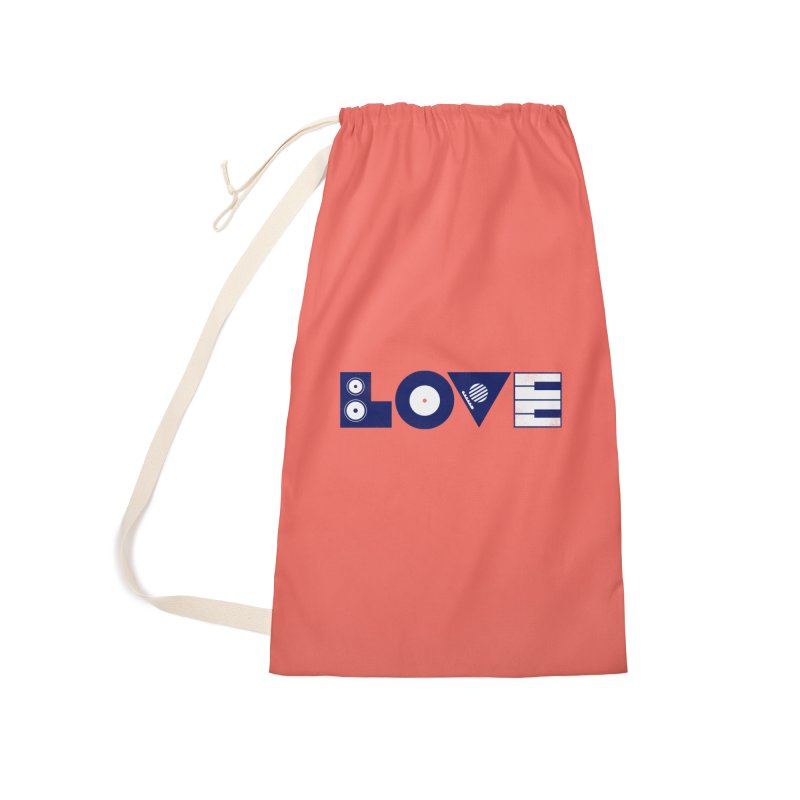 Love Music Accessories Laundry Bag Bag by Arkady's print shop