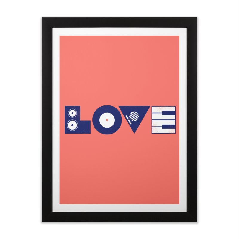 Love Music Home Framed Fine Art Print by Arkady's print shop