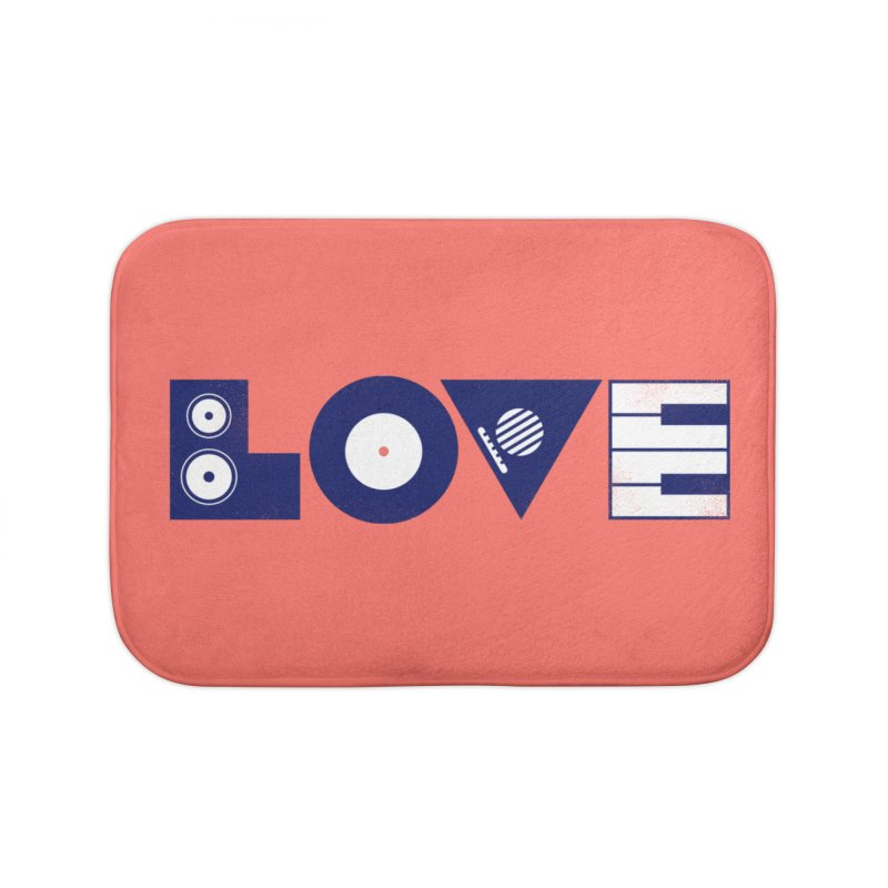 Love Music Home Bath Mat by Arkady's print shop