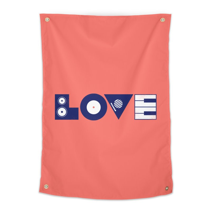 Love Music Home Tapestry by Arkady's print shop