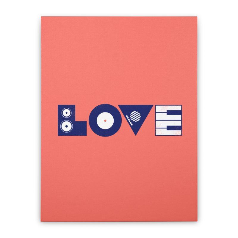 Love Music Home Stretched Canvas by Arkady's print shop
