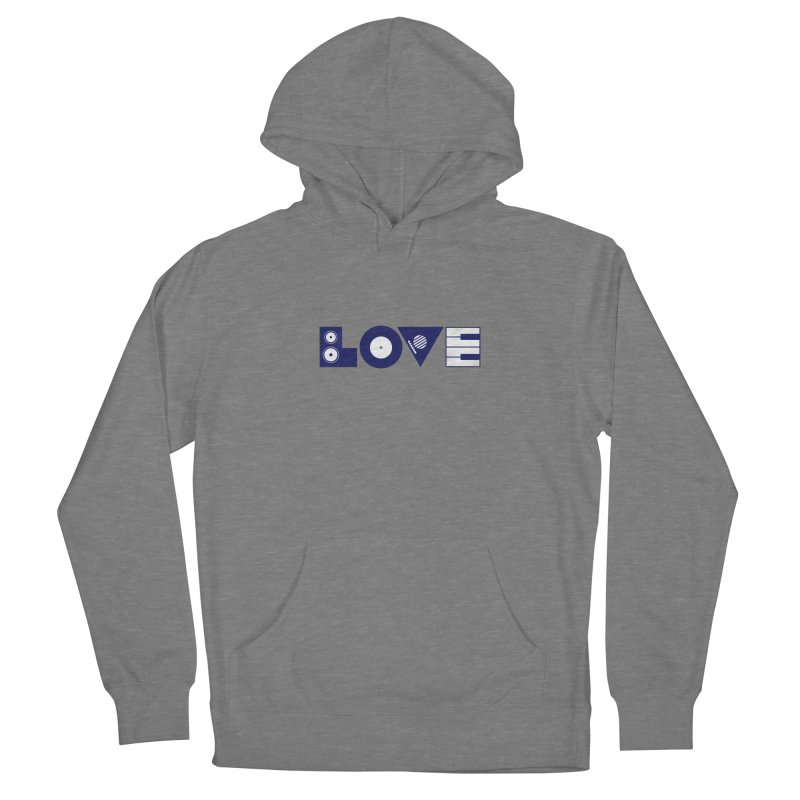Love Music Women's Pullover Hoody by Arkady's print shop