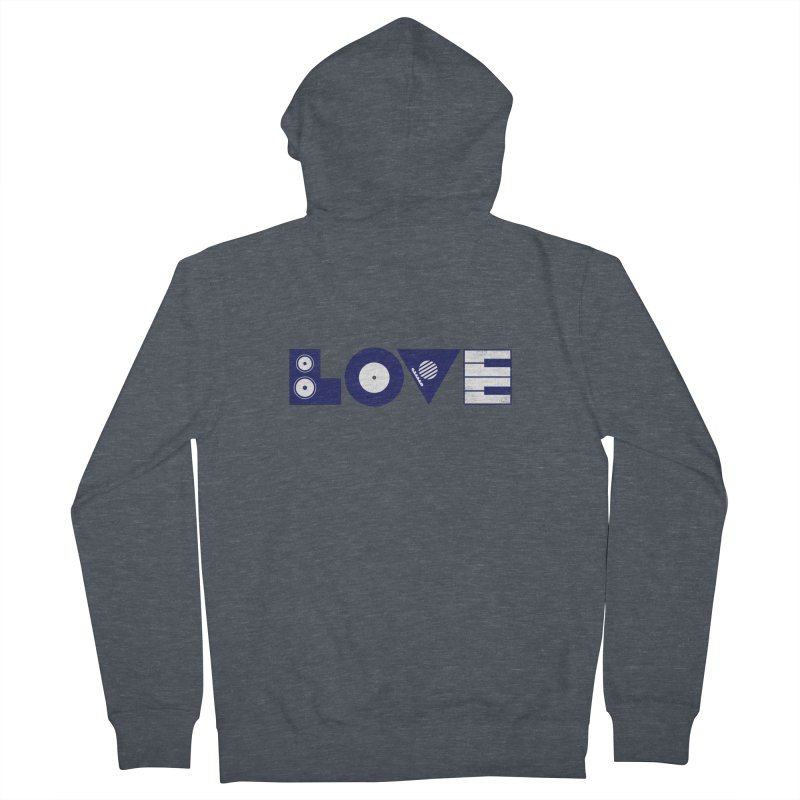 Love Music Men's French Terry Zip-Up Hoody by Arkady's print shop