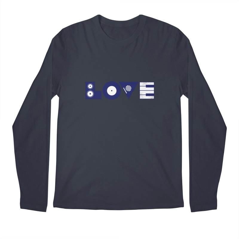 Love Music Men's Regular Longsleeve T-Shirt by Arkady's print shop