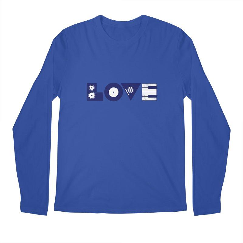 Love Music Men's Regular Longsleeve T-Shirt by Arkady's print shop