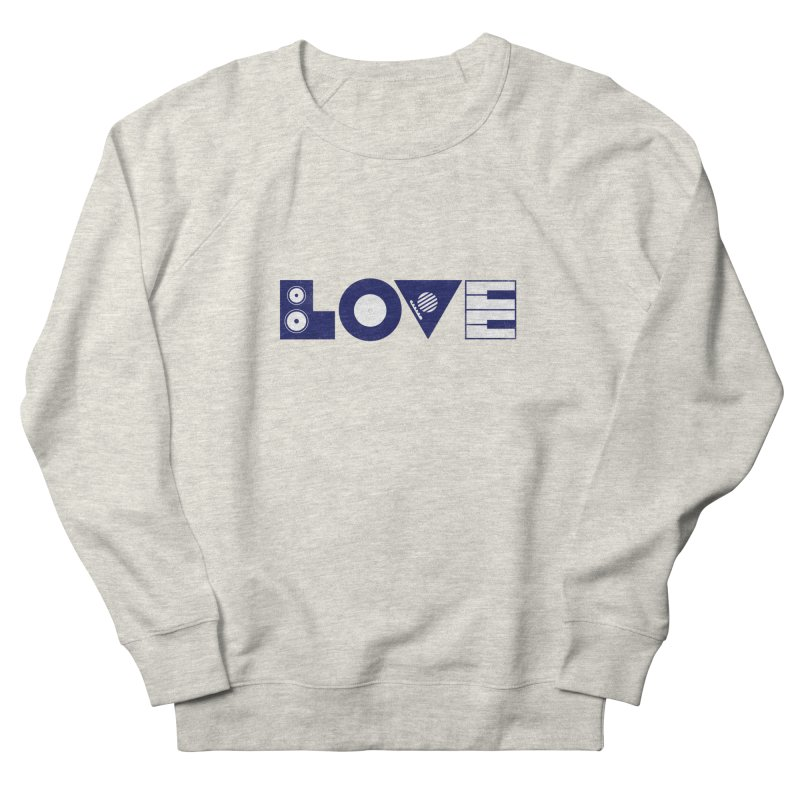 Love Music Men's French Terry Sweatshirt by Arkady's print shop