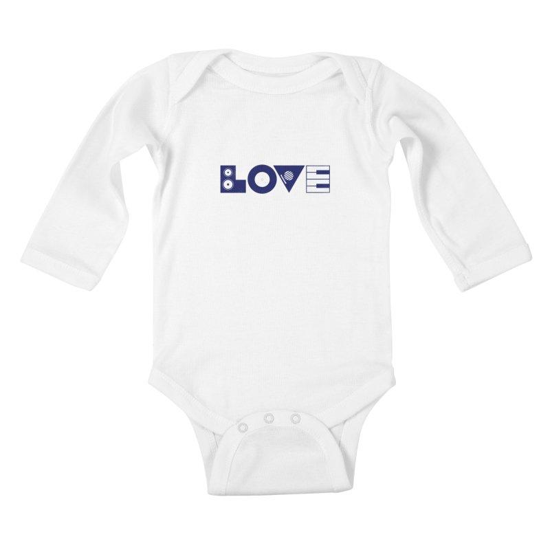 Love Music Kids Baby Longsleeve Bodysuit by Arkady's print shop