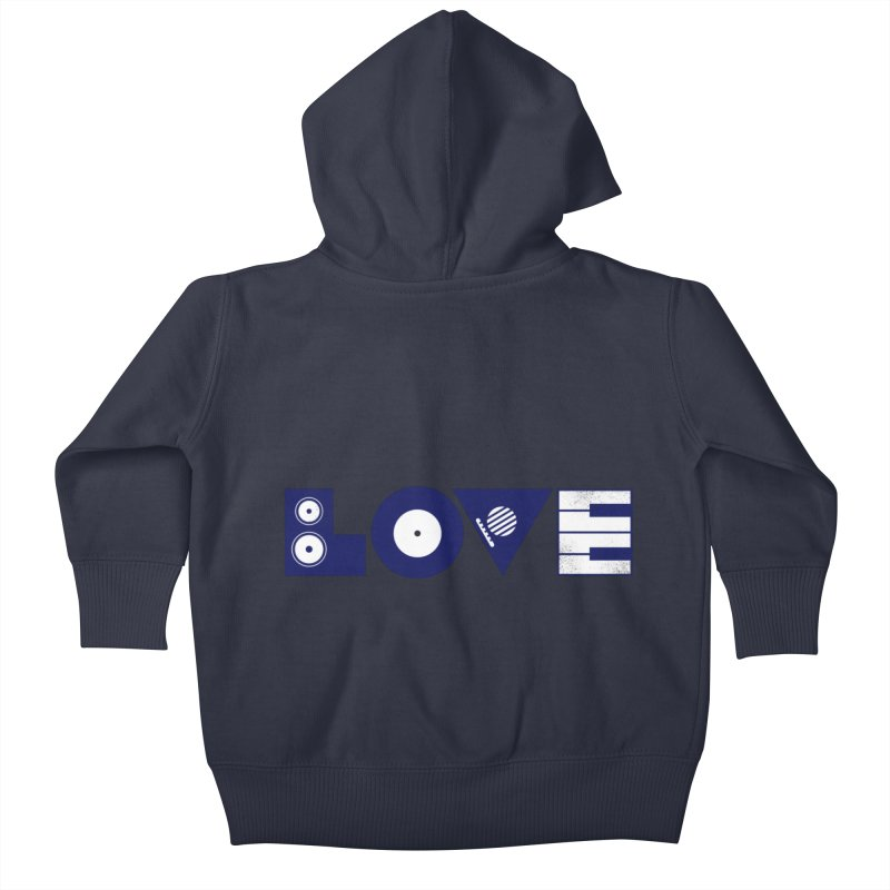 Love Music Kids Baby Zip-Up Hoody by Arkady's print shop