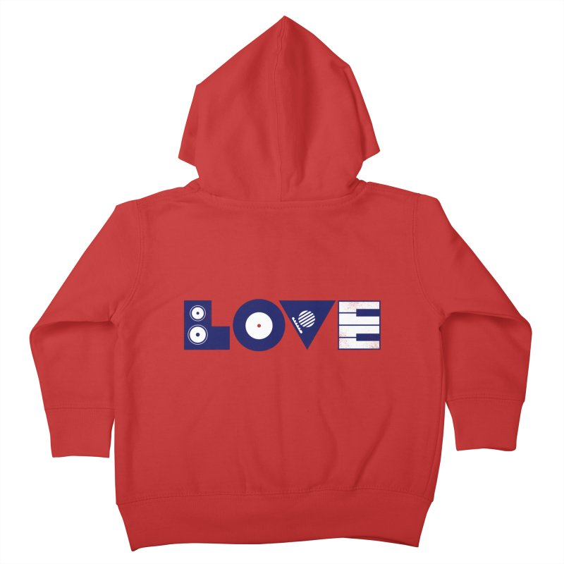 Love Music Kids Toddler Zip-Up Hoody by Arkady's print shop