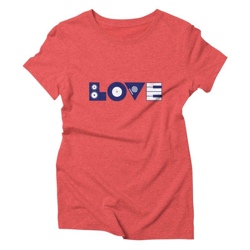 Love Music Women's Triblend T-Shirt by Arkady's print shop