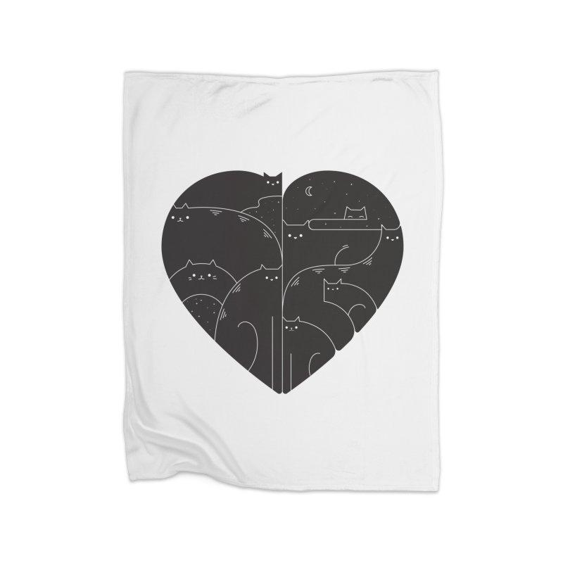Love cats Home Fleece Blanket Blanket by Arkady's print shop
