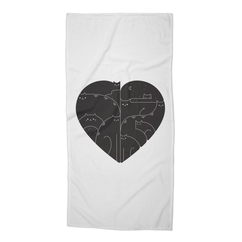 Love cats Accessories Beach Towel by Arkady's print shop