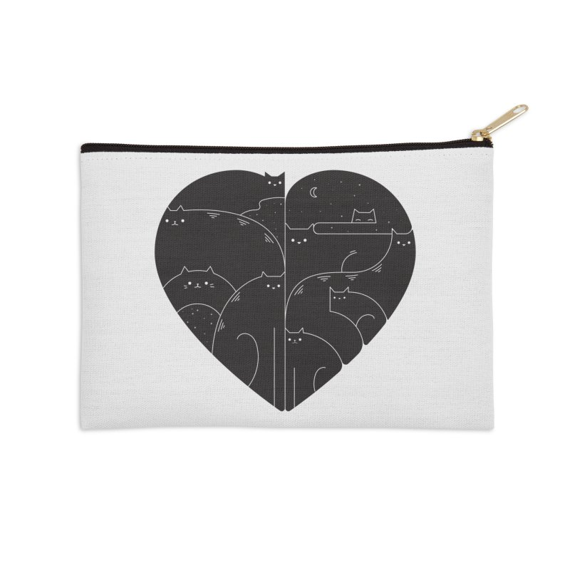 Love cats Accessories Zip Pouch by Arkady's print shop