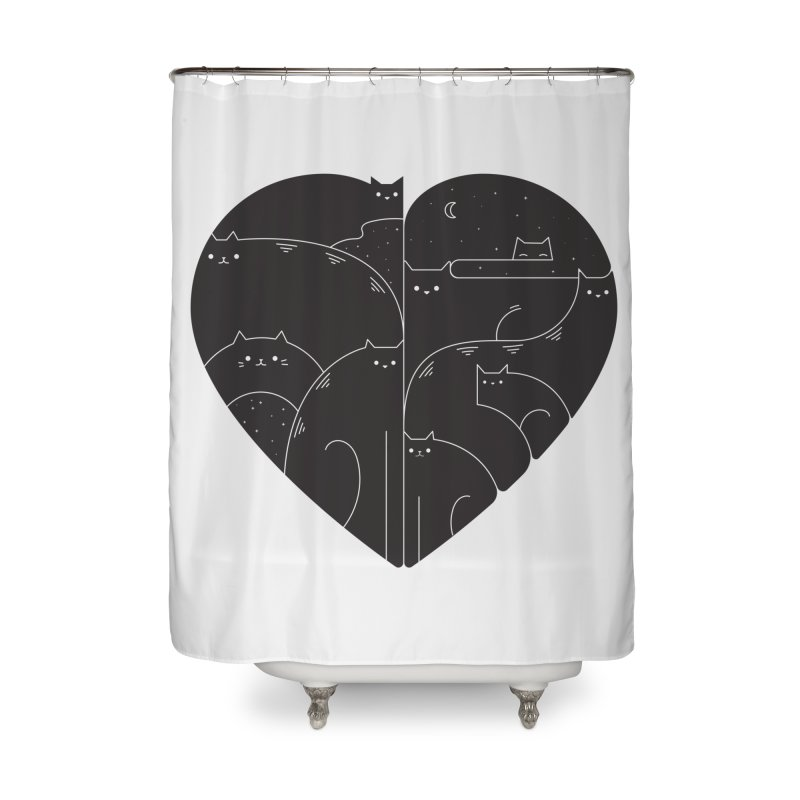 Love cats Home Shower Curtain by Arkady's print shop